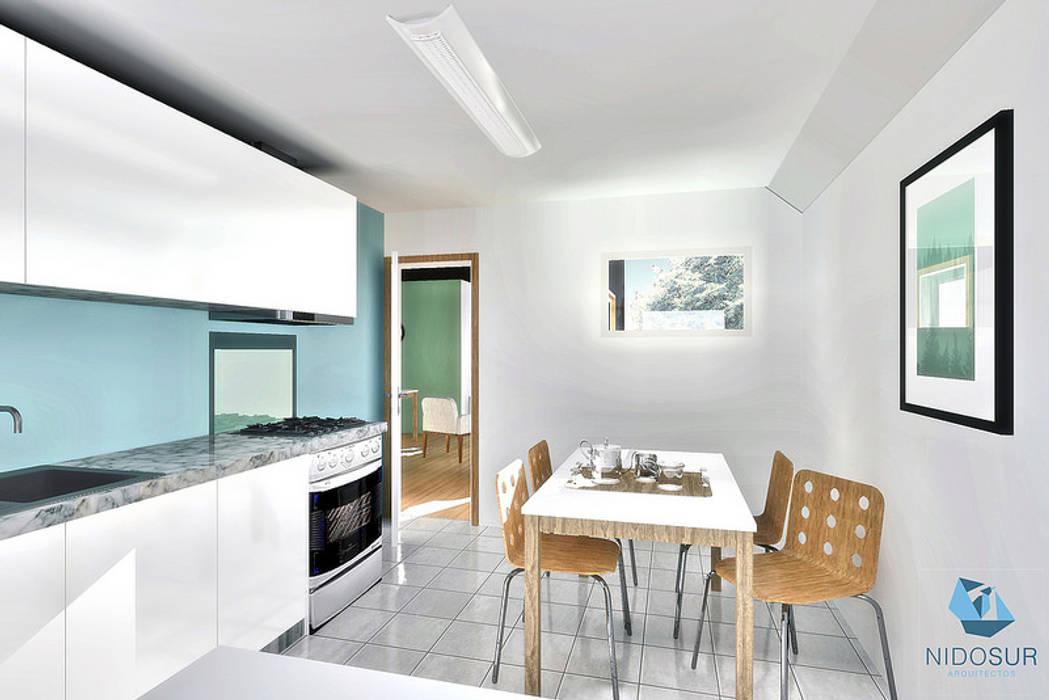 Cocina: Cocinas equipadas de estilo  por NidoSur Arquitectos - Valdivia