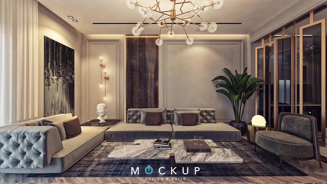 East town - Sodic:  غرفة المعيشة تنفيذ  Mockup studio, كلاسيكي
