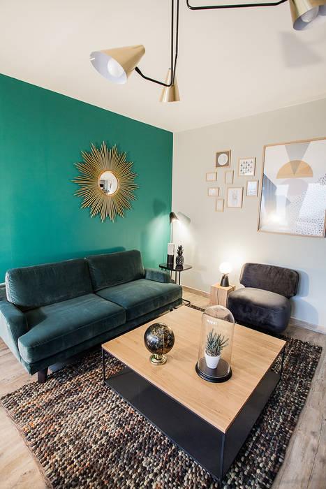 Un salon chic et confortable: Salon de style  par Anne-Laure DESIGN