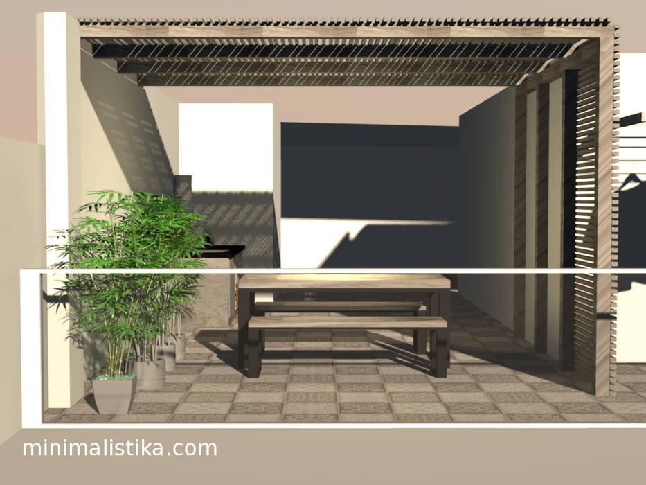 Minimalistika.com Balkon, Beranda & Teras Minimalis Parket Wood effect