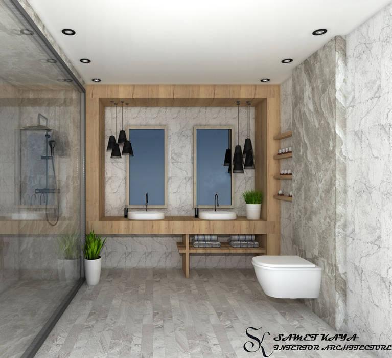 SKY İç Mimarlık & Mimarlık Tasarım Stüdyosu – Banyo Tasarımı: modern tarz , Modern