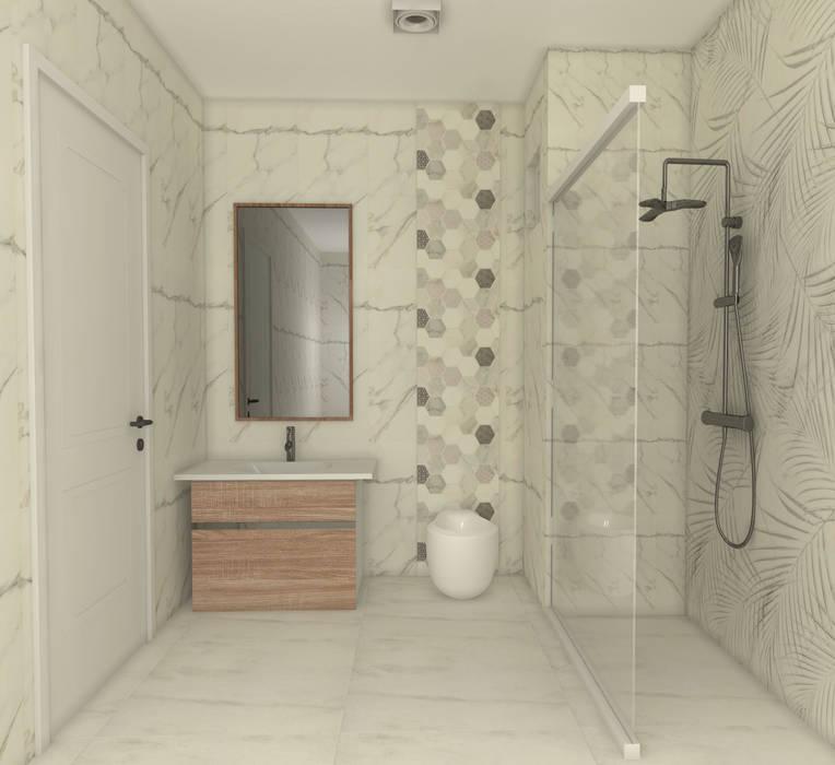 Banyo Tasarımı Modern Banyo SKY İç Mimarlık & Mimarlık Tasarım Stüdyosu Modern