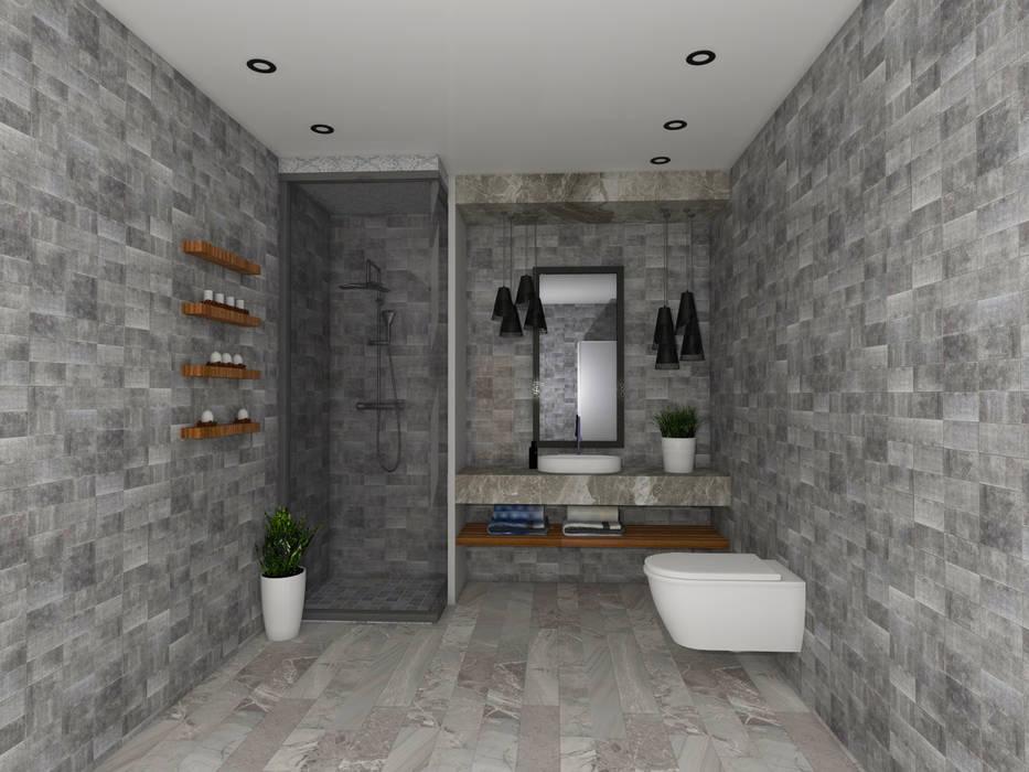 Baños de estilo moderno de SKY İç Mimarlık & Mimarlık Tasarım Stüdyosu Moderno
