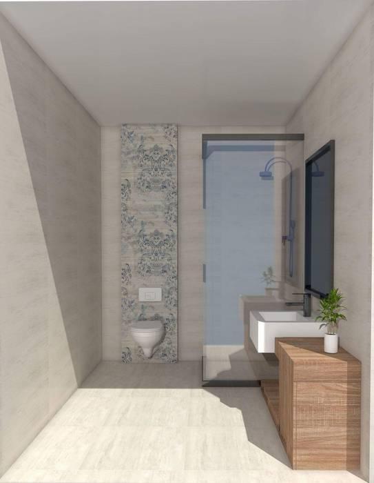 SKY İç Mimarlık & Mimarlık Tasarım Stüdyosu – Banyo Tasarımı:  tarz Banyo