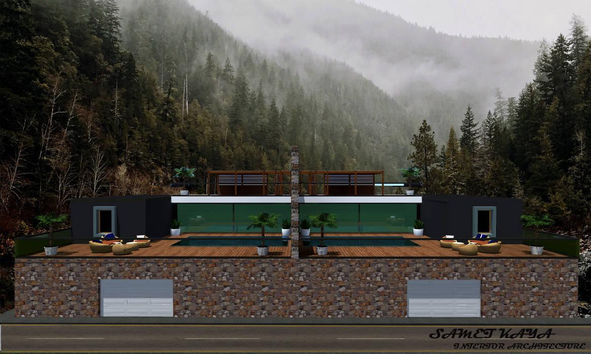 SKY İç Mimarlık & Mimarlık Tasarım Stüdyosu – Malikane Projesi:  tarz Kır evi
