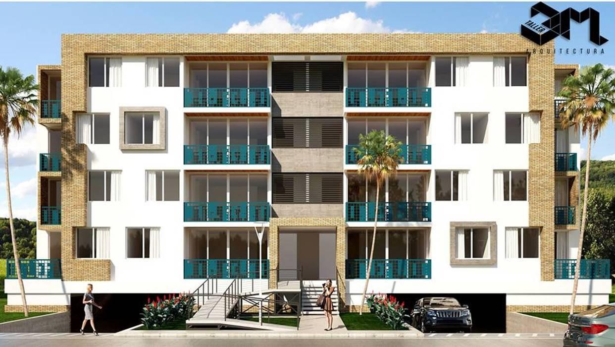 Fachada / Proyecto BRISAS DEL RÍO - República Dominicana: Casas multifamiliares de estilo  por Taller 3M Arquitectura & Construcción,