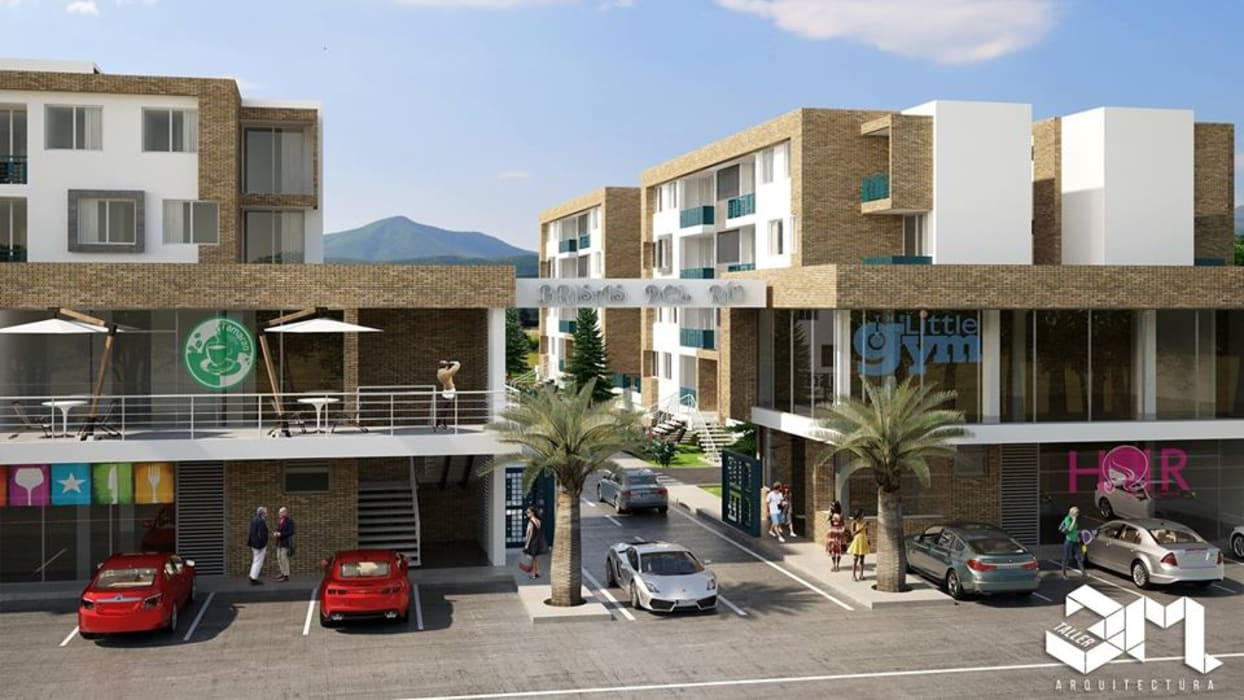 Taller 3M Arquitectura & Construcciónが手掛けた二世帯住宅, オリジナル レンガ