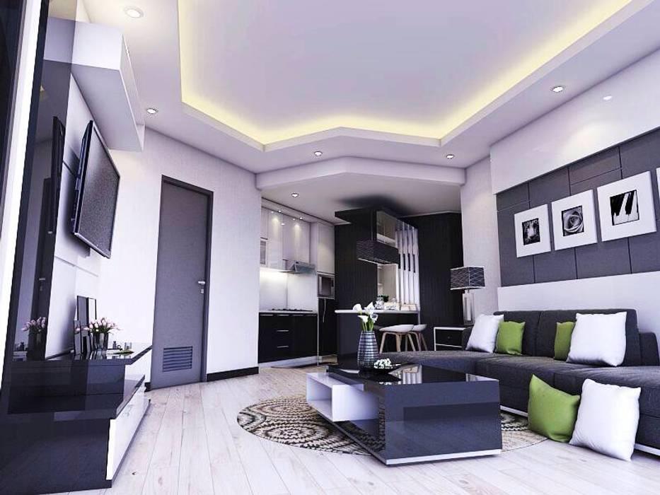 Living room: Ruang Keluarga oleh Maxx Details,