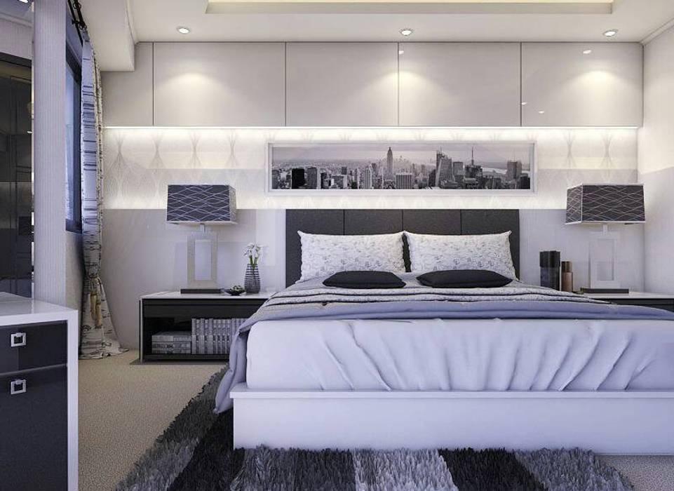 Apartemen Gading Mediterania Jakarta:  Bedroom by Maxx Details