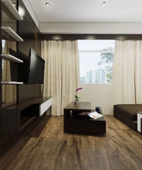 Apartemen The Jarrdin Bandung Ruang Keluarga Modern Oleh Maxx Details Modern