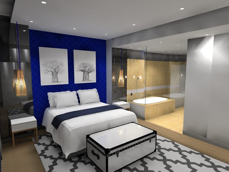 main bed 2:  Bedroom by AB DESIGN