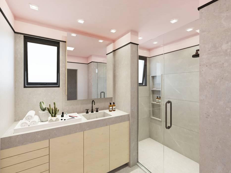 Apartamento Aclimação: Banheiros  por Aya Arquitetura