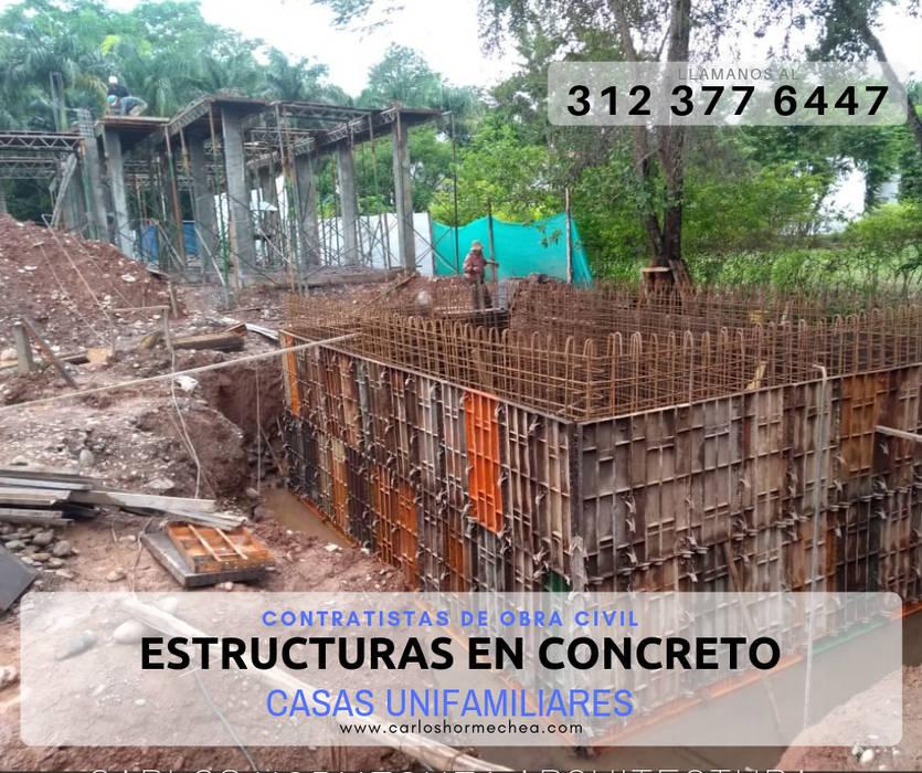 ESTRUCTURAS EN CONCRETO Casas modernas de CARLOS HORMECHEA ARQUITECTURA Moderno