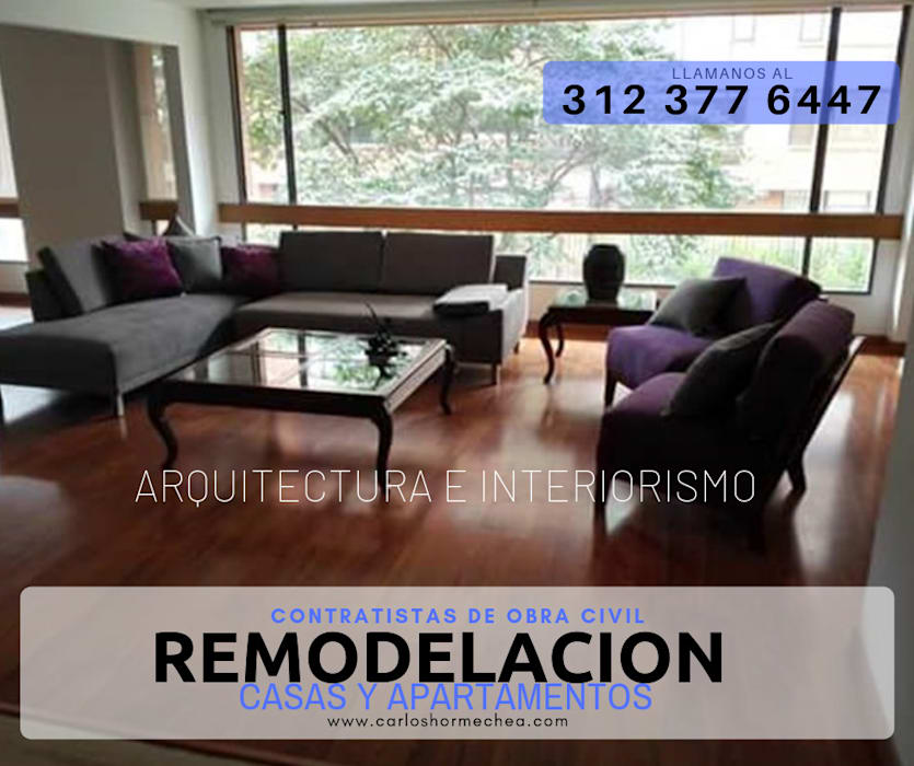 REMODELACION DE APARTAMENTOS de CARLOS HORMECHEA ARQUITECTURA Moderno