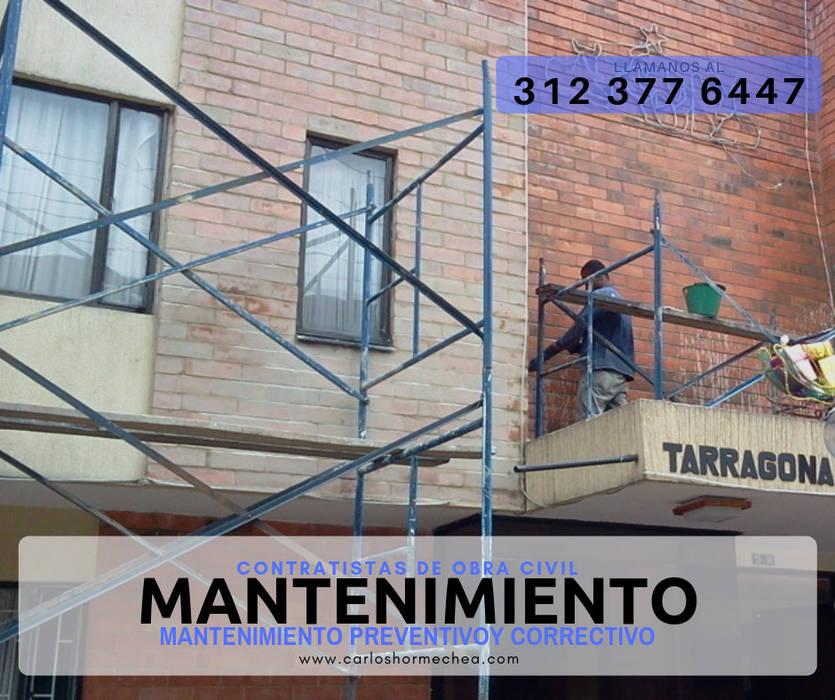 MANTENIMIENTO DE FACHADAS de CARLOS HORMECHEA ARQUITECTURA Moderno