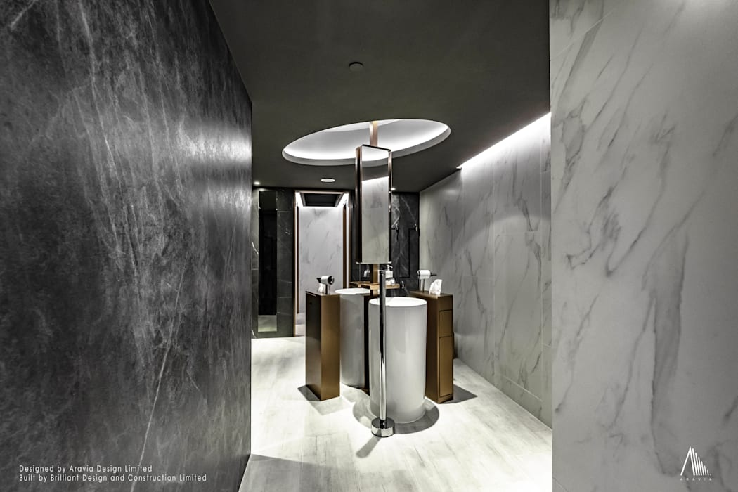 Washroom:  Commercial Spaces by Brilliant Design & Construction Ltd., Modern