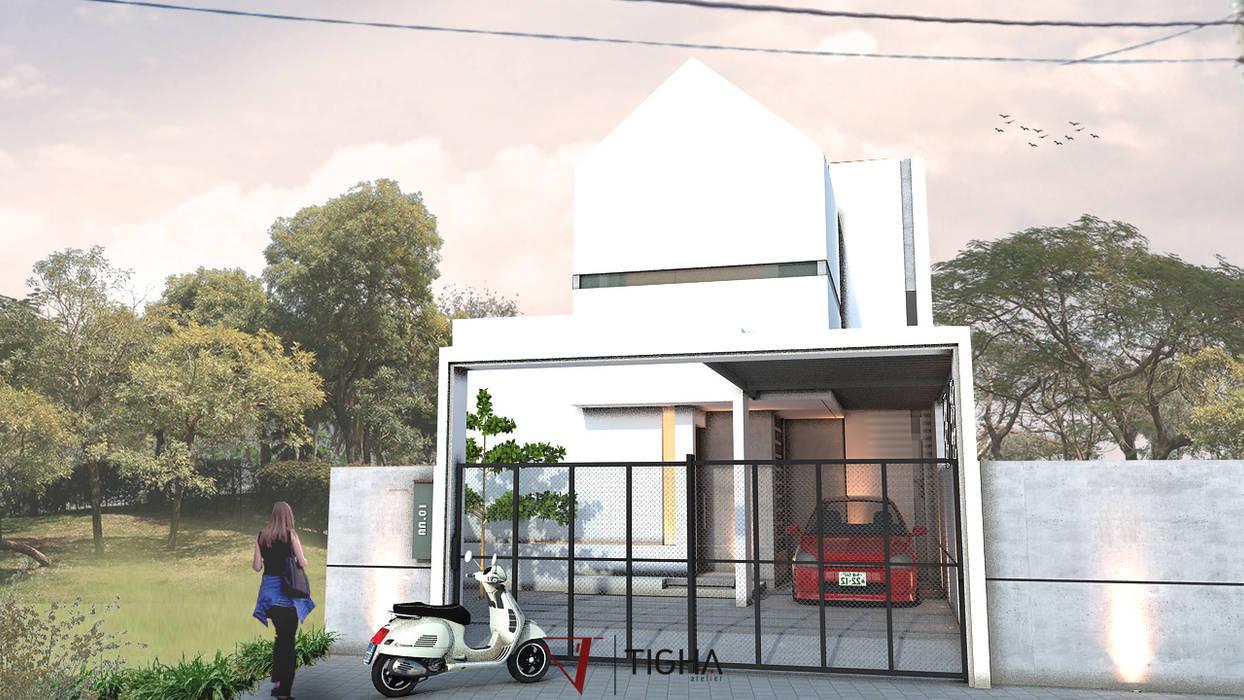 Eksterior AN House Rumah Modern Oleh Tigha Atelier Modern
