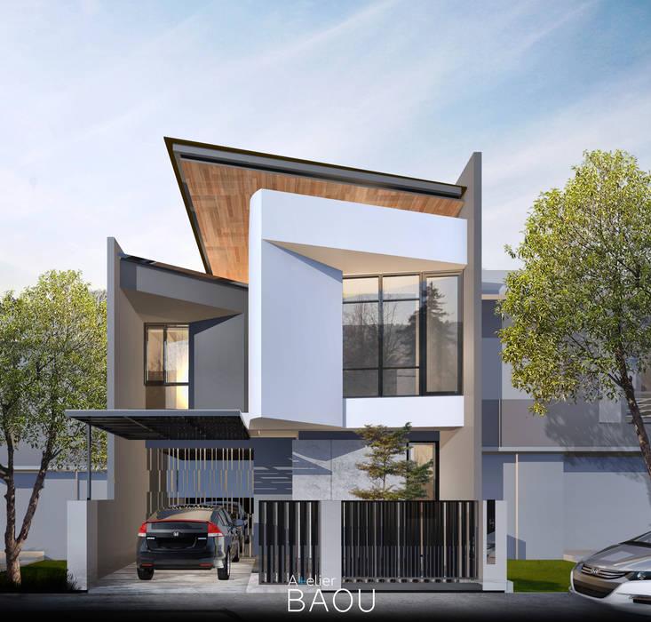 HD HOUSE:  Rumah tinggal  by Atelier BAOU+