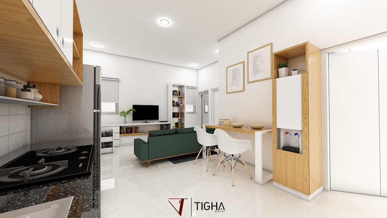Dining Room:  Ruang Makan by Tigha Atelier