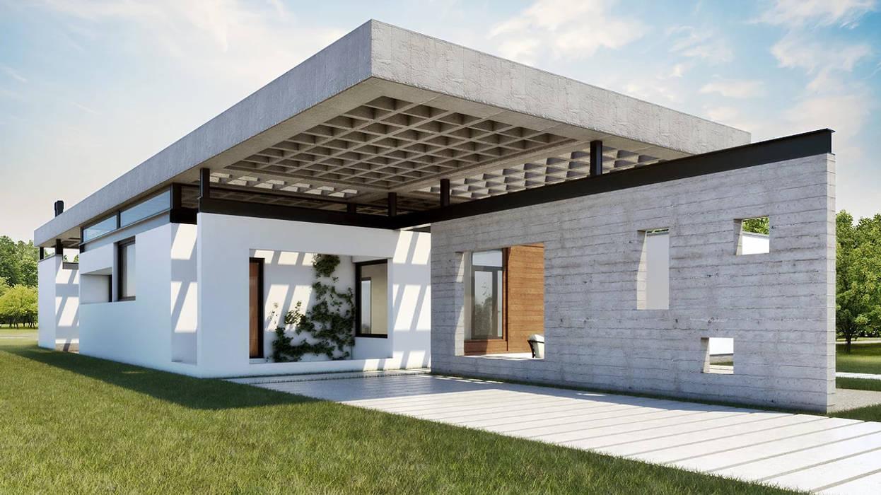 Dise o de casa en ca itas 01 por arquitectos casas for Diseno casas unifamiliares