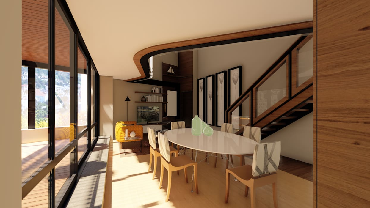 Apartment Renovation:  Dining room by Inline Spaces Pty Ltd