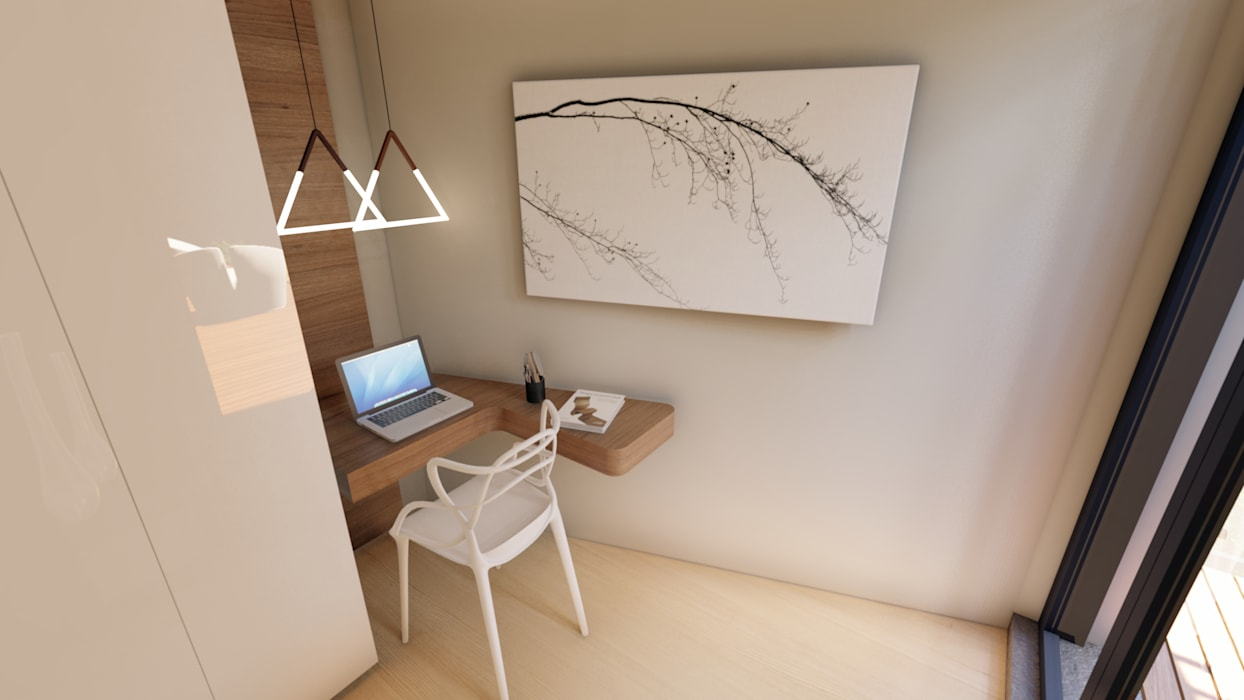 Apartment Renovation:  Study/office by Inline Spaces Pty Ltd,