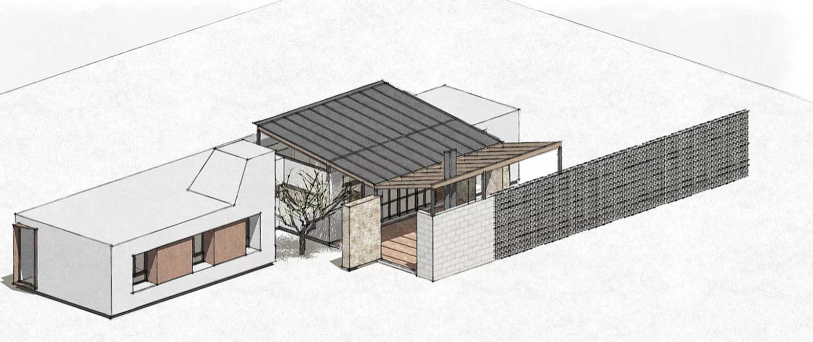 Diseño de Casa a dos Aguas en Valle Alegre por 1.61 Arquitectos de 1.61 Arquitectos Moderno