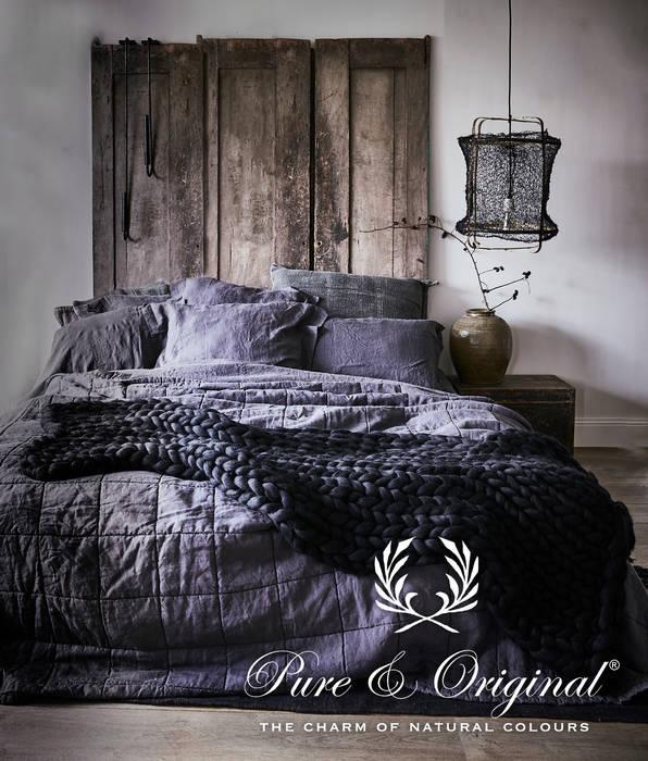 Fresco kalkverf in de kleur Bone Industriële slaapkamers van Pure & Original Industrieel