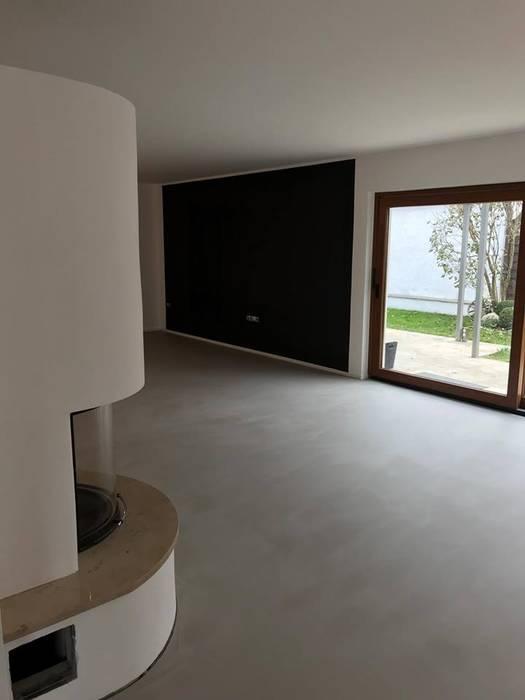 Pandomo Fugenloser Boden Wohnzimmer Von Keramostone Homify