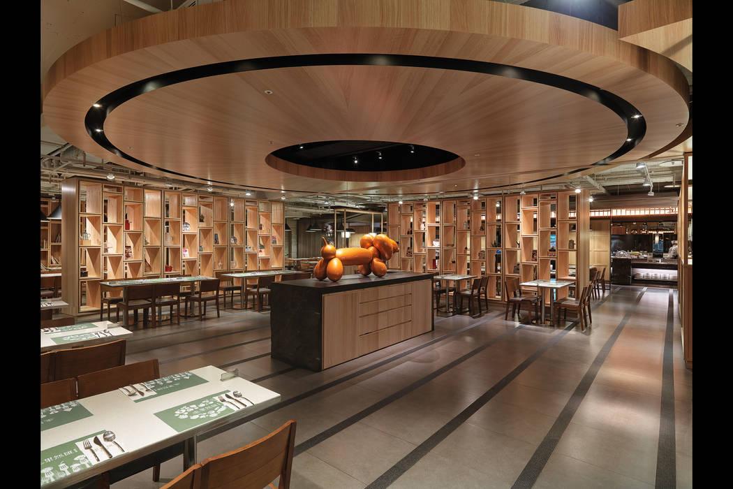 果然匯 蔬食宴:  餐廳 by 伊歐室內裝修設計有限公司,