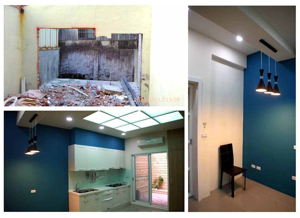 天窗使廚房光線充足:  小廚房 by 奕禾軒 空間規劃 /工程設計