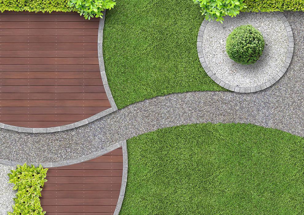 Diseño de jardines y piscinas en Málaga: Jardines delanteros de estilo  de Klausroom, Minimalista Madera Acabado en madera