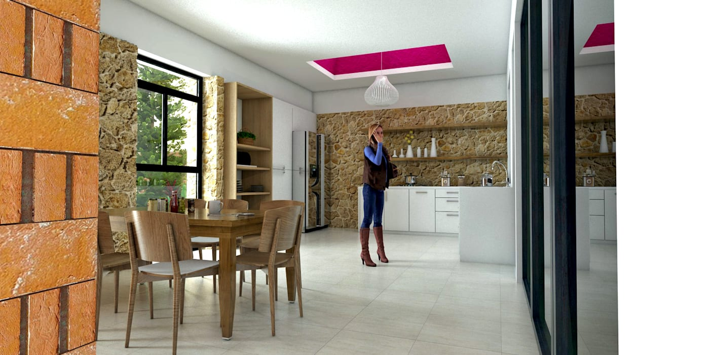 Vintark arquitectura ห้องครัว