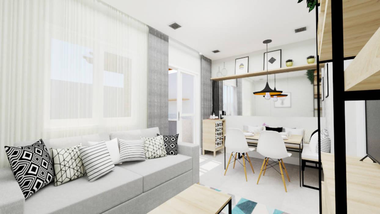 Comedores de estilo moderno de Aline Mozzer Arquitetura Moderno Tablero DM