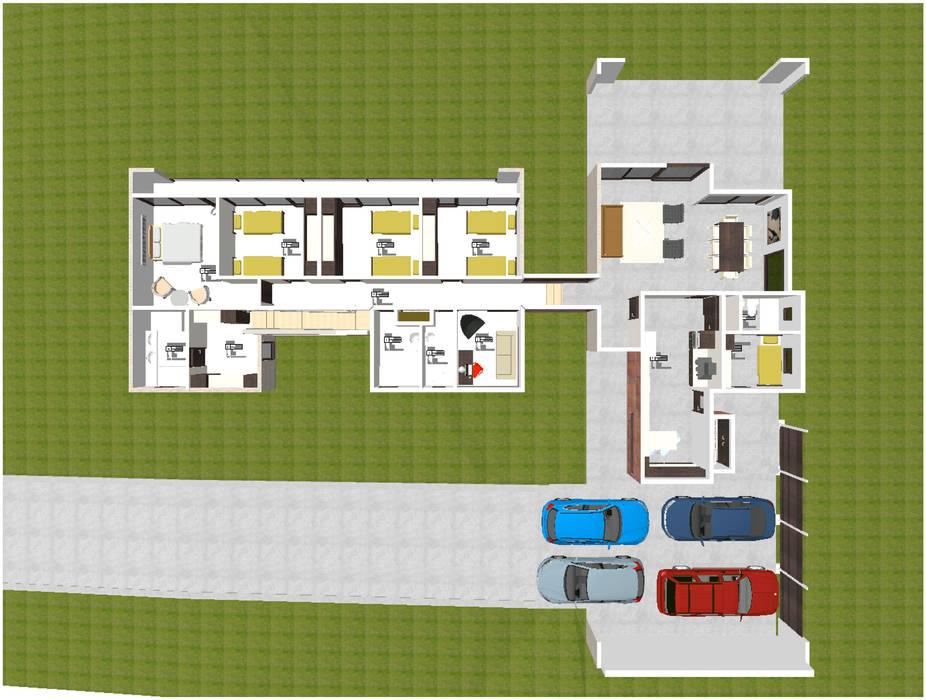 Planta Casas de estilo escandinavo de ARQvision BIM Sustainable Architecture Escandinavo