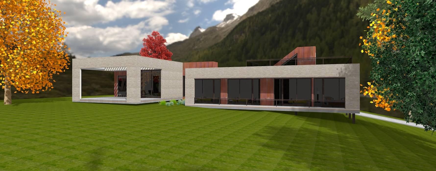 Vista desde el Jardín Casas de estilo escandinavo de ARQvision BIM Sustainable Architecture Escandinavo