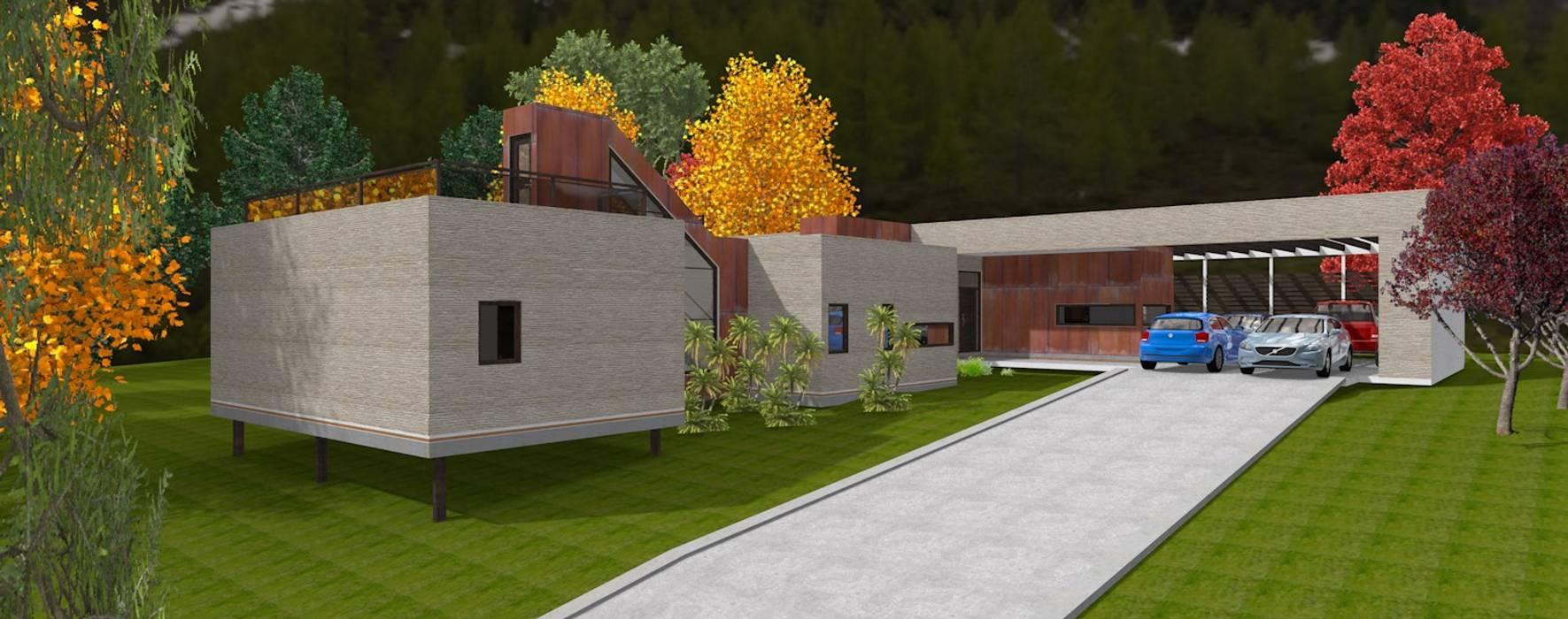 Vista desde aces Casas de estilo escandinavo de ARQvision BIM Sustainable Architecture Escandinavo