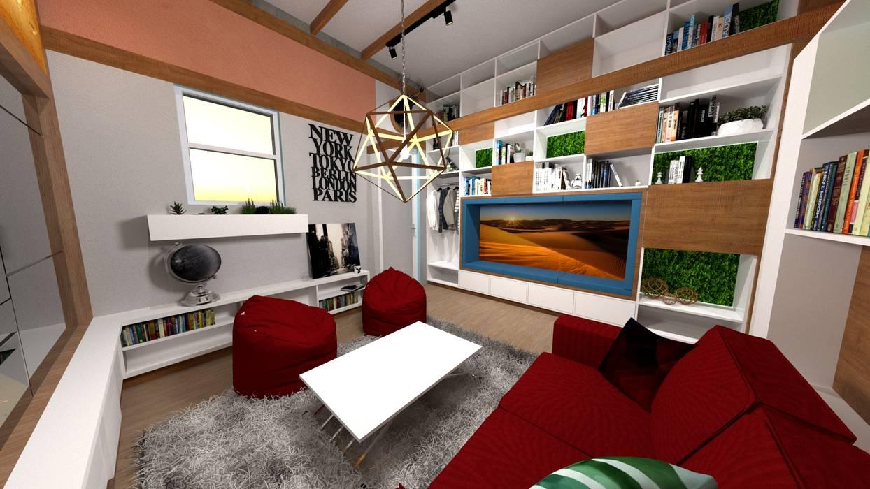 Sala: Salas / recibidores de estilo  por Rodrigo León Palma
