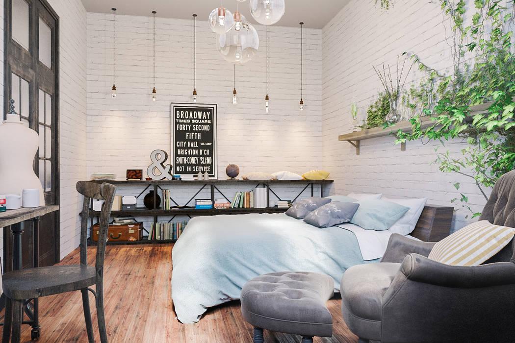 Квартира в лофте: Спальни в . Автор – B&D