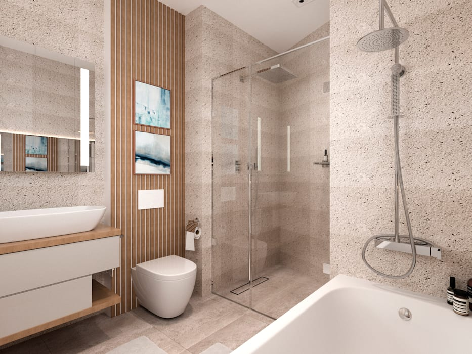 Квартира в стиле классик-модерн Ванная комната в стиле модерн от B&D Модерн