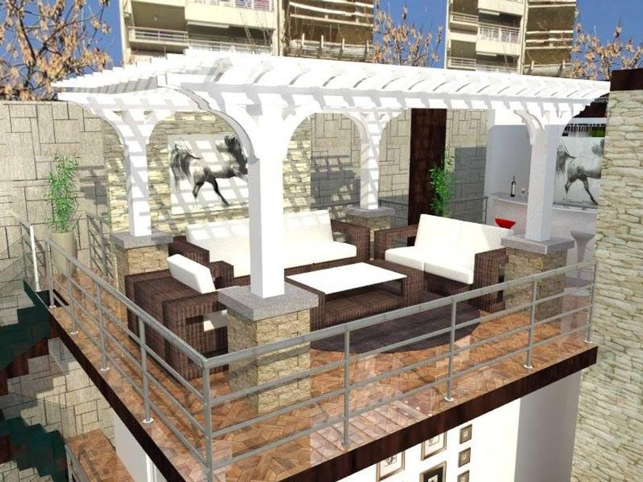 Estar terraza Balcones y terrazas modernos de ROQA.7 ARQUITECTURA Y PAISAJE Moderno