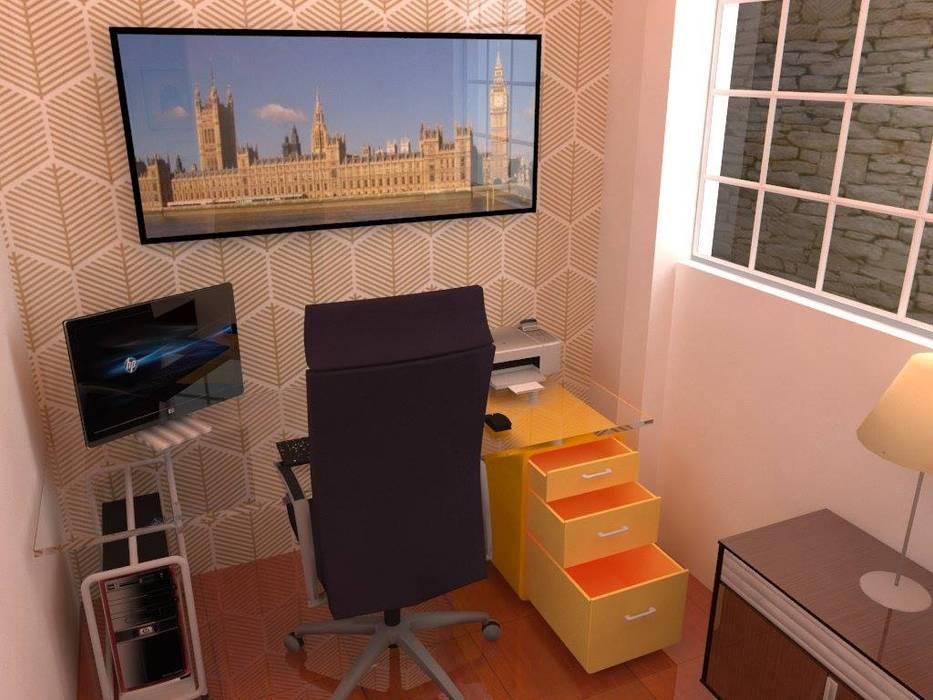 Oficina: Oficinas de estilo  por ROQA.7 ARQUITECTOS, Moderno