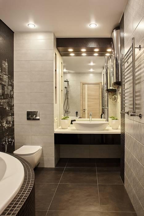 Городские джунгли Ванная комната в стиле модерн от ARTWAY центр профессиональных дизайнеров и строителей Модерн