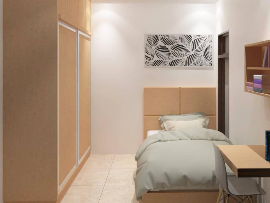 Kamar Tidur Tamu Lantai 1 (Perspektif lain) :   by Tatami design