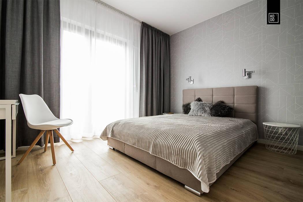 LUNCH NA MOKOTOWIE: styl , w kategorii Sypialnia zaprojektowany przez KODO projekty i realizacje wnętrz,