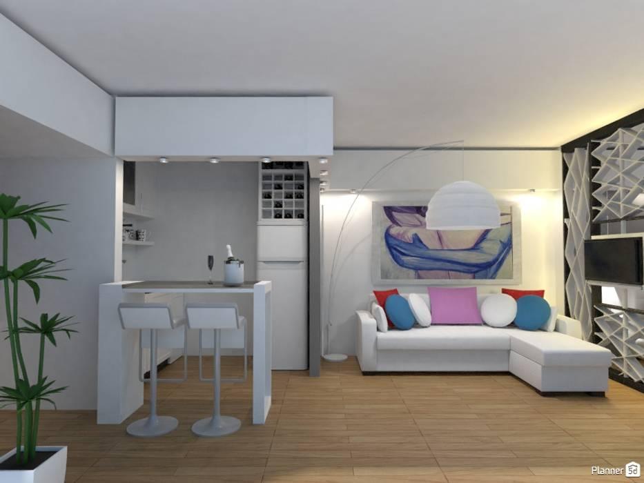 Monoambiente - Recoleta: Livings de estilo  por Arquimundo 3g - Diseño de Interiores - Ciudad de Buenos Aires