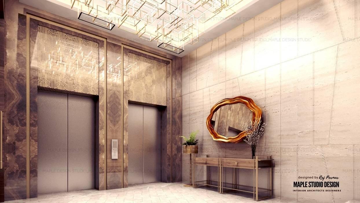 luxury interiors by Maple studio design:  Corridor & hallway by MAPLE studio design,