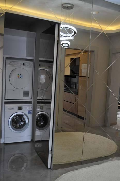 Mimayris Proje ve Yapı Ltd. Şti. – Çamaşır Odası: modern tarz , Modern Cam