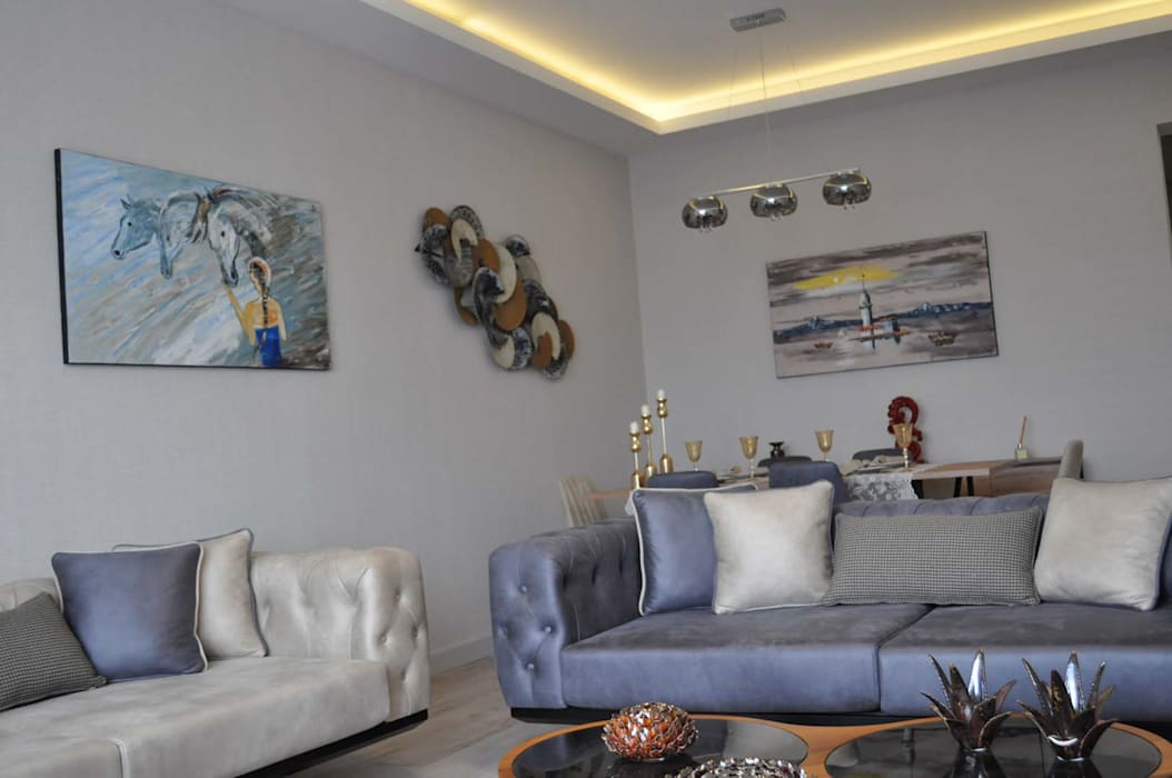 Mimayris Proje ve Yapı Ltd. Şti. – Salon: modern tarz , Modern Ahşap Ahşap rengi