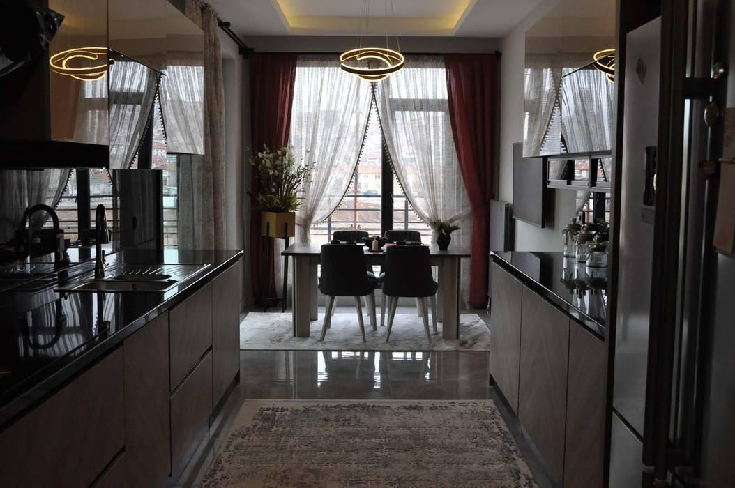 Mimayris Proje ve Yapı Ltd. Şti. – Mutfak: modern tarz , Modern Yönlendirilmiş Yonga Levha